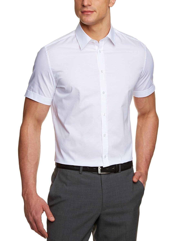 Seidensticker - Camisa Slim de Manga Corta para Hombre, Talla 41 ...