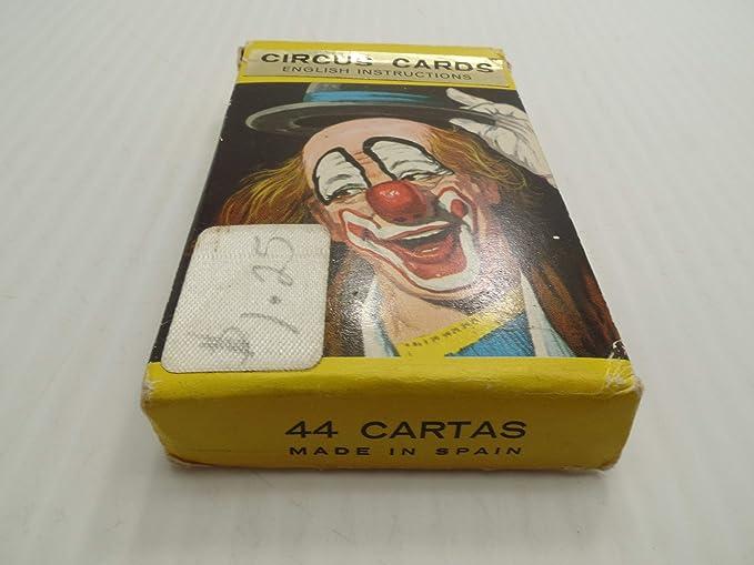 Amazon.com: Juego Infantil Vitoria Circus Cards Card Game ...