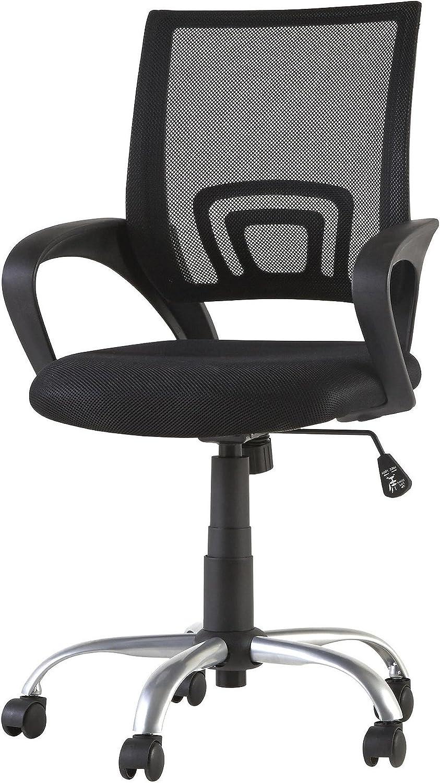 Tesco NEW Odette Steel Frame Mesh Back Swivel Office Chair - Black