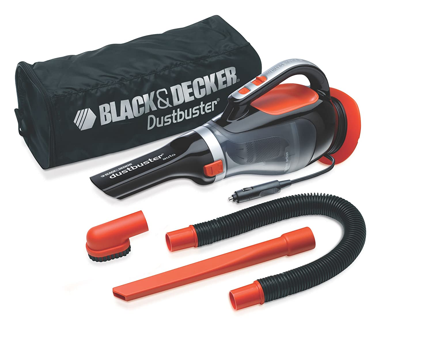 Black+Decker ADV1220 Autosauger Schwarz//Orange