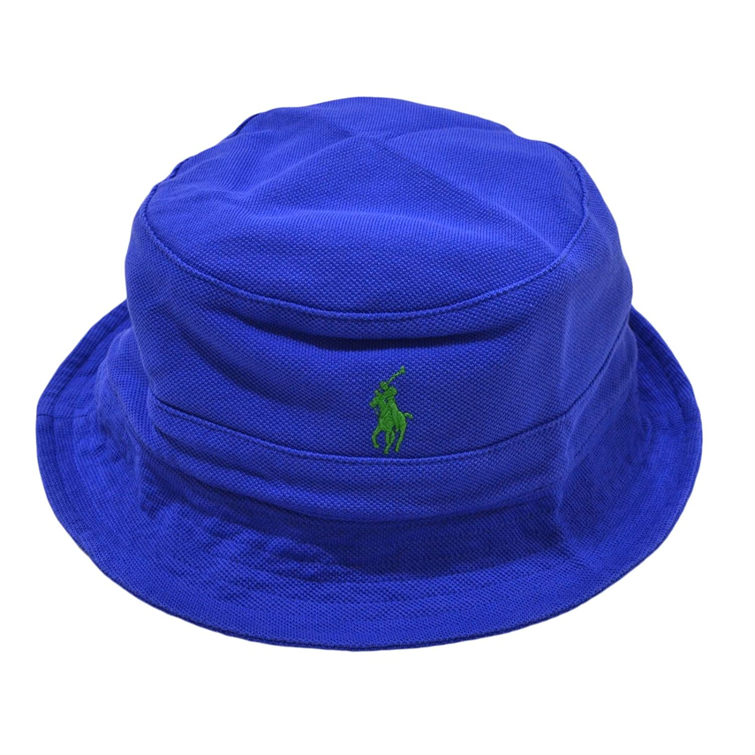 ab426096c351 Polo Ralph Lauren Mens Mesh Casual Bucket Hat Blue S M at Amazon Men s  Clothing store