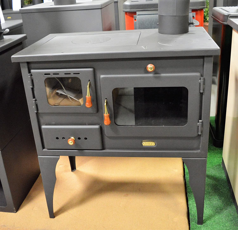 Estufa de leña, chimenea, horno, hecha de hierro fundido, para usar con combustible sólido, 10 kw: Amazon.es: Bricolaje y herramientas