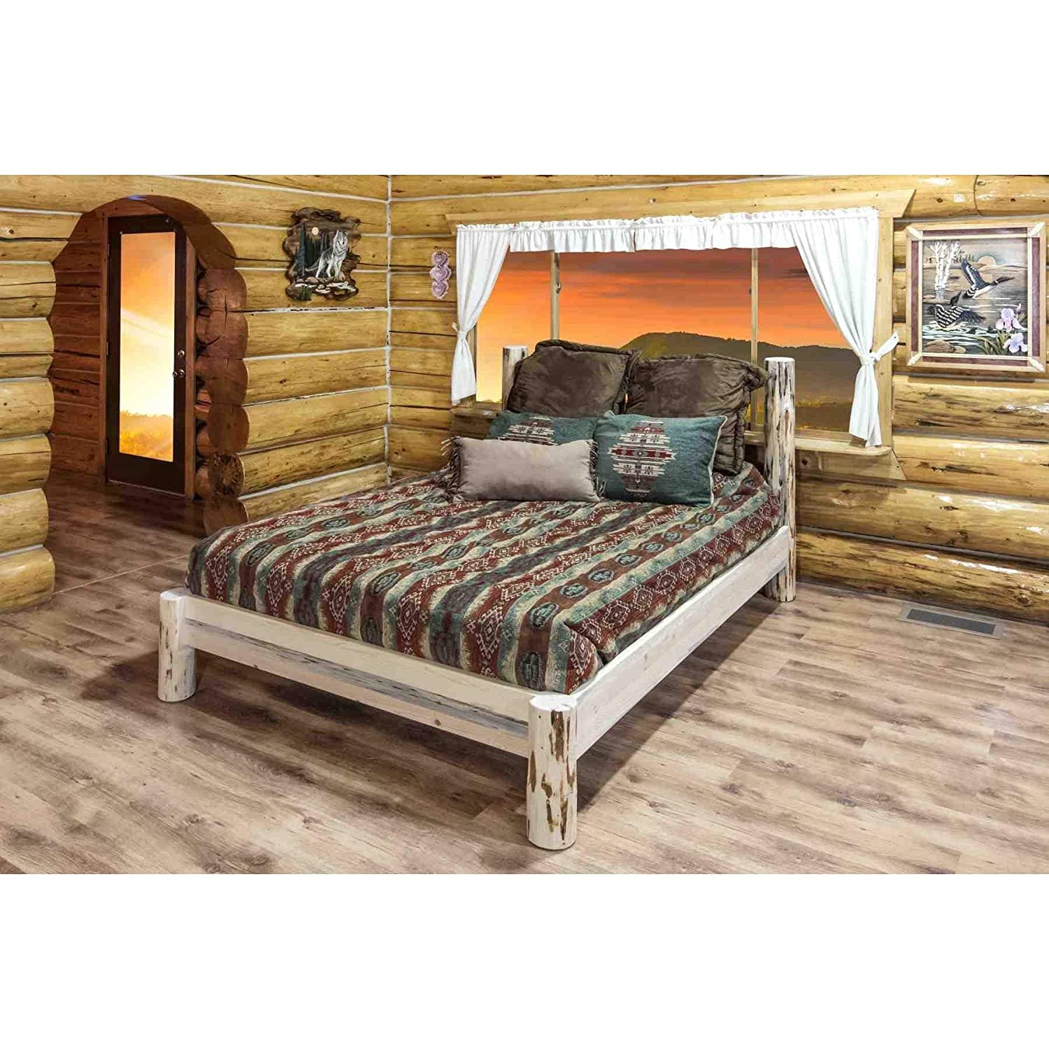Amazon.com: Montana Woodworks - Montana Collection Twin Platform Bed: Kitchen & Dining