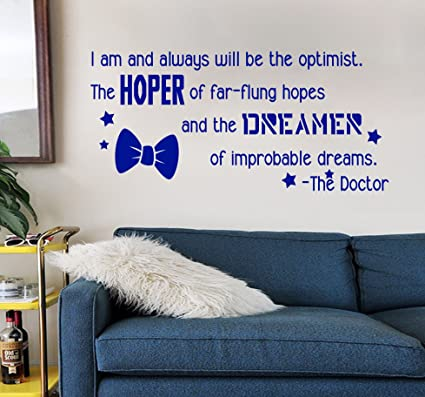 Amazoncom Dw Inspired Hope And Dream Bow Tie Quote Blue Vinyl