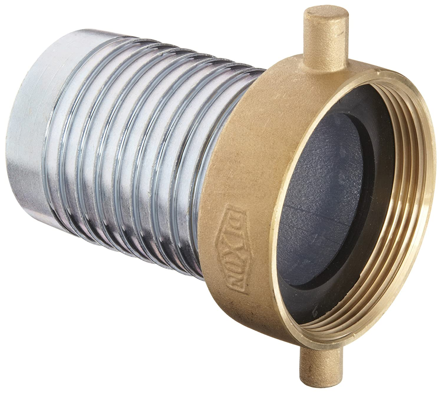 2 NPSM Female x 2 Hose ID Barbed 2 NPSM Female x 2 Hose ID Barbed Dixon Valve /& Coupling Dixon FCSB200 Steel Hose Fitting King Short Shank Suction Coupling with Brass Nut