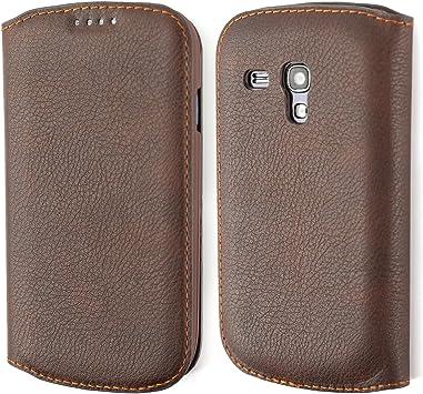 COODIO Funda Samsung Galaxy S3 Mini, Premium Funda Cuero, Funda Billetera Samsung Galaxy S3 Mini, Vintage Carcasa en Libro, Ranuras para Tarjetas, Funda Cartera para Samsung Galaxy S3 Mini,Marrón: Amazon.es: Electrónica