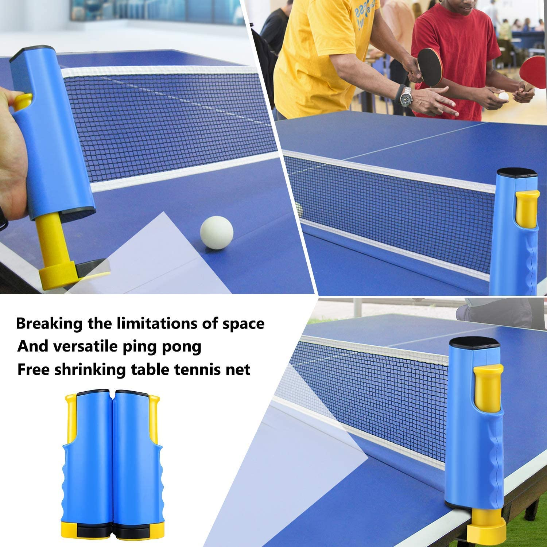 soporte de viaje ajustable accesorios deportivos para interiores y exteriores Red de ping pong port/átil y retr/áctil instant/áneo