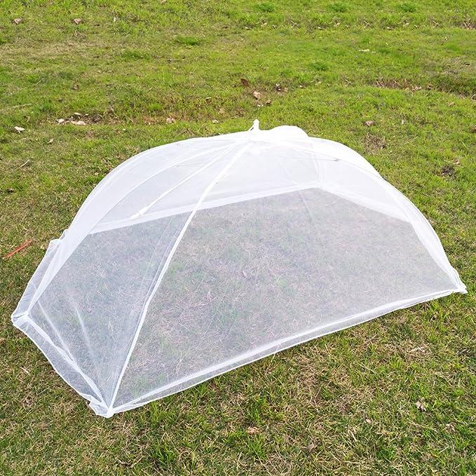 Paraguas gigante con cubierta de malla para alimentos para exteriores, protege tus alimentos y frutas, forma de moscas y bichos en picnics: Amazon.es: Hogar