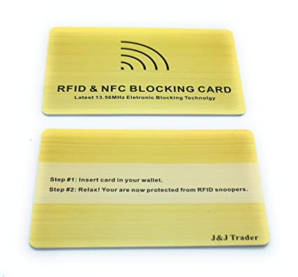 J&J - Tarjeta de Bloqueo RFID/NFC, protección para Tarjeta ...