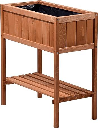 Dobar Hochbeet Aus Holz Mit Ablageboden Fruhbeet Bausatz Fur Gemuse