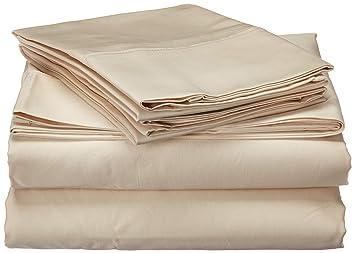 2b8966d89fd1 Brielle Home Premium Egyptian Cotton 1000 Thread Count Sheet Set, Queen,  Ivory