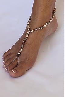 Amazon bridal beach wedding barefoot sandals pearl crystal barefoot sandals natural shells beach wedding barefoot sandals junglespirit Choice Image