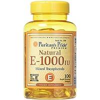 Puritans Pride Vitamin E-1000 Iu Mixed Tocopherols Natural-100 Softgels, 100 Count