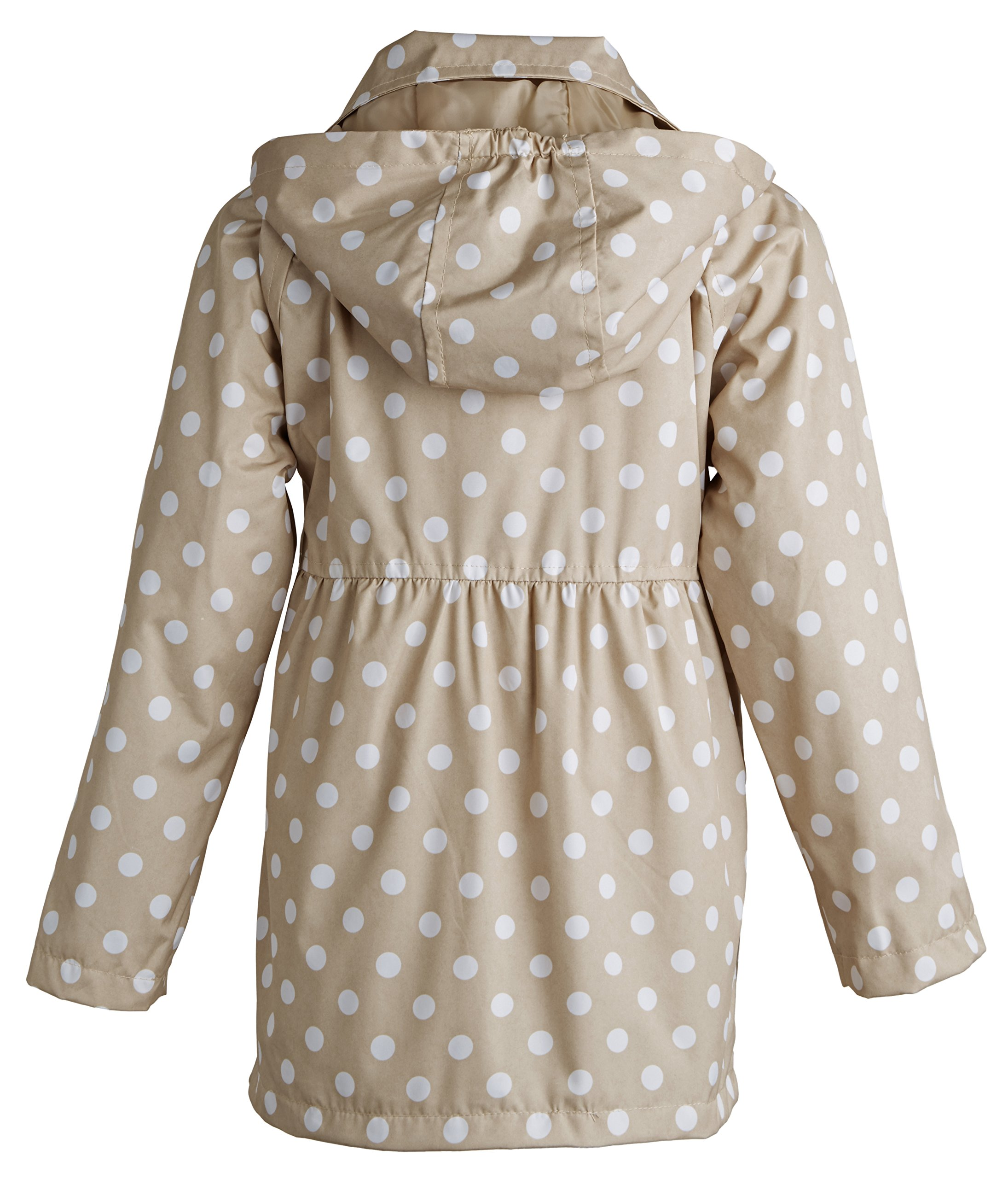 Pink Platinum Little Girls Double Breasted Polka Dot Waisted Spring Trench Coat - Khaki (Size 4) by Pink Platinum (Image #3)