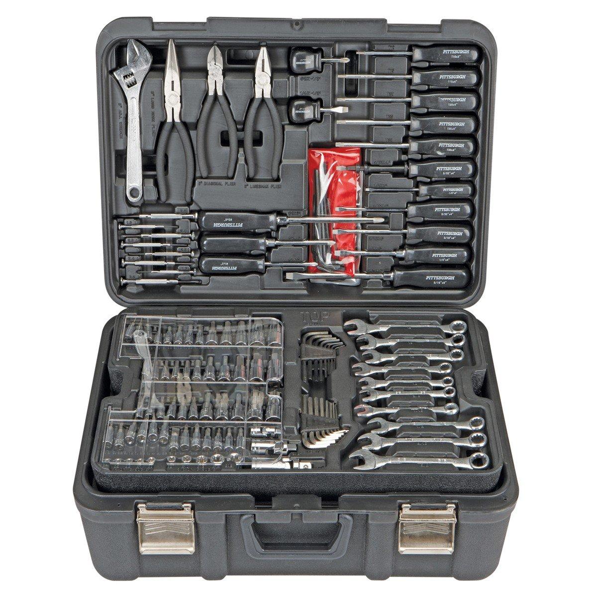 Amazon com professional 301 piece mechanic s tool kit sae and metric home improvement