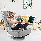 kealive Floor Gaming Chair,360 Degree Swivel Floor Chair, 4-Position Adjustable Gaming Floor Chair, 330lb Spring Support, Com