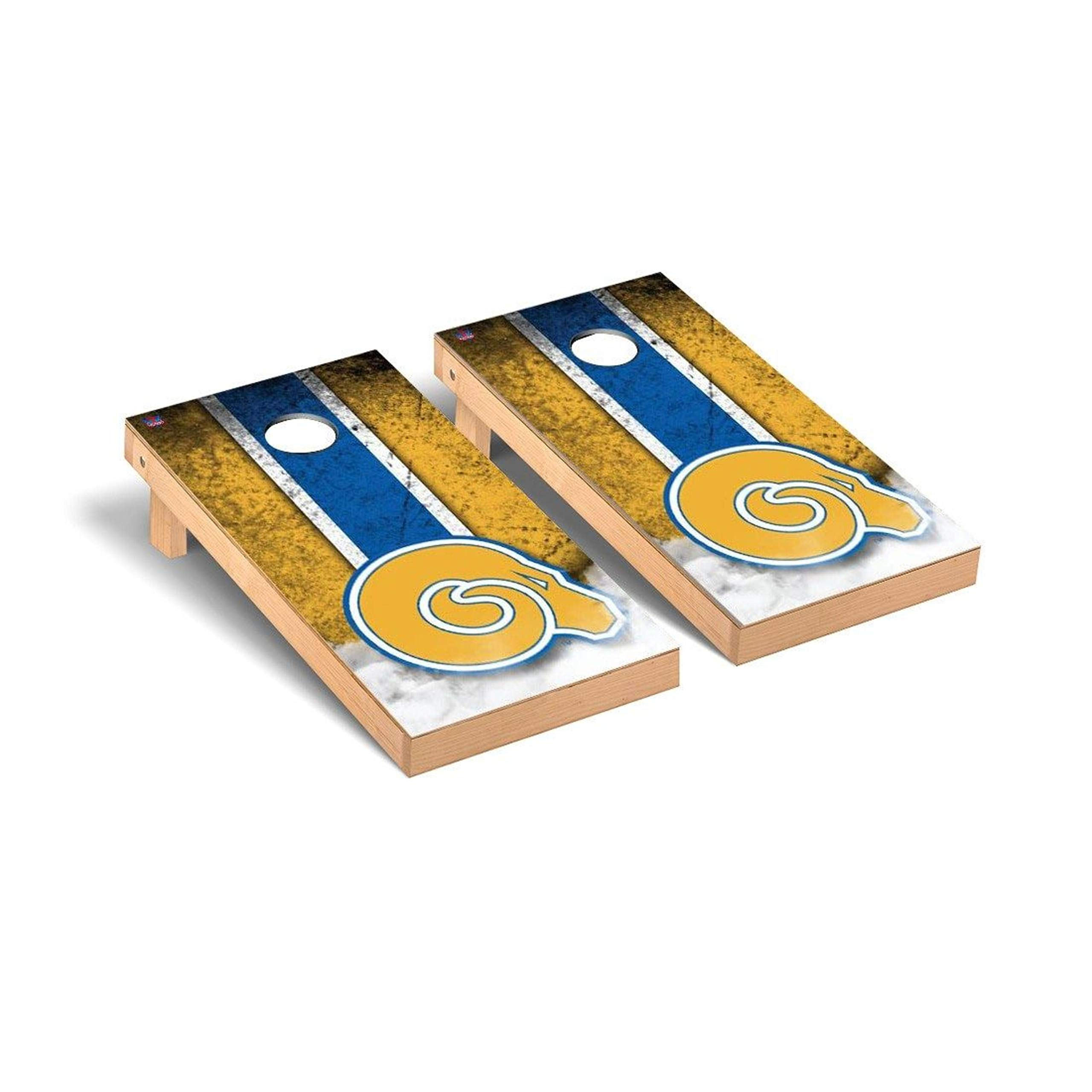 Victory Tailgate Regulation Collegiate NCAA Vintage Series Cornhole Board Set - 2 Boards, 8 Bags - Albany State Golden Rams