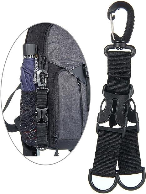 UK Outdoor Tactical Belt Webbing Carabiner Key Holder Bag Hook Buckle Strap Clip