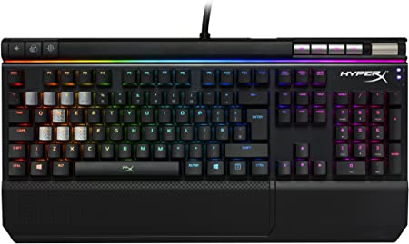 Kingston HyperX Alloy Elite RGB - Teclado para Juegos Mecánico (Cherry MX Brwon, Tipo QWERTY), Color Negro