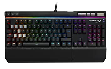 f3c2aab5596 Image Unavailable. Image not available for. Colour: HyperX HX-KB2RD2-UK/R1 Alloy  Elite RGB Mechanical Gaming Keyboard ...