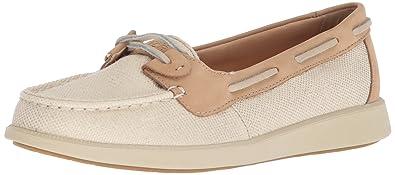 88949e51f SPERRY Women's Oasis Loft Boat Shoe, Oat Metallic, 5 Medium US
