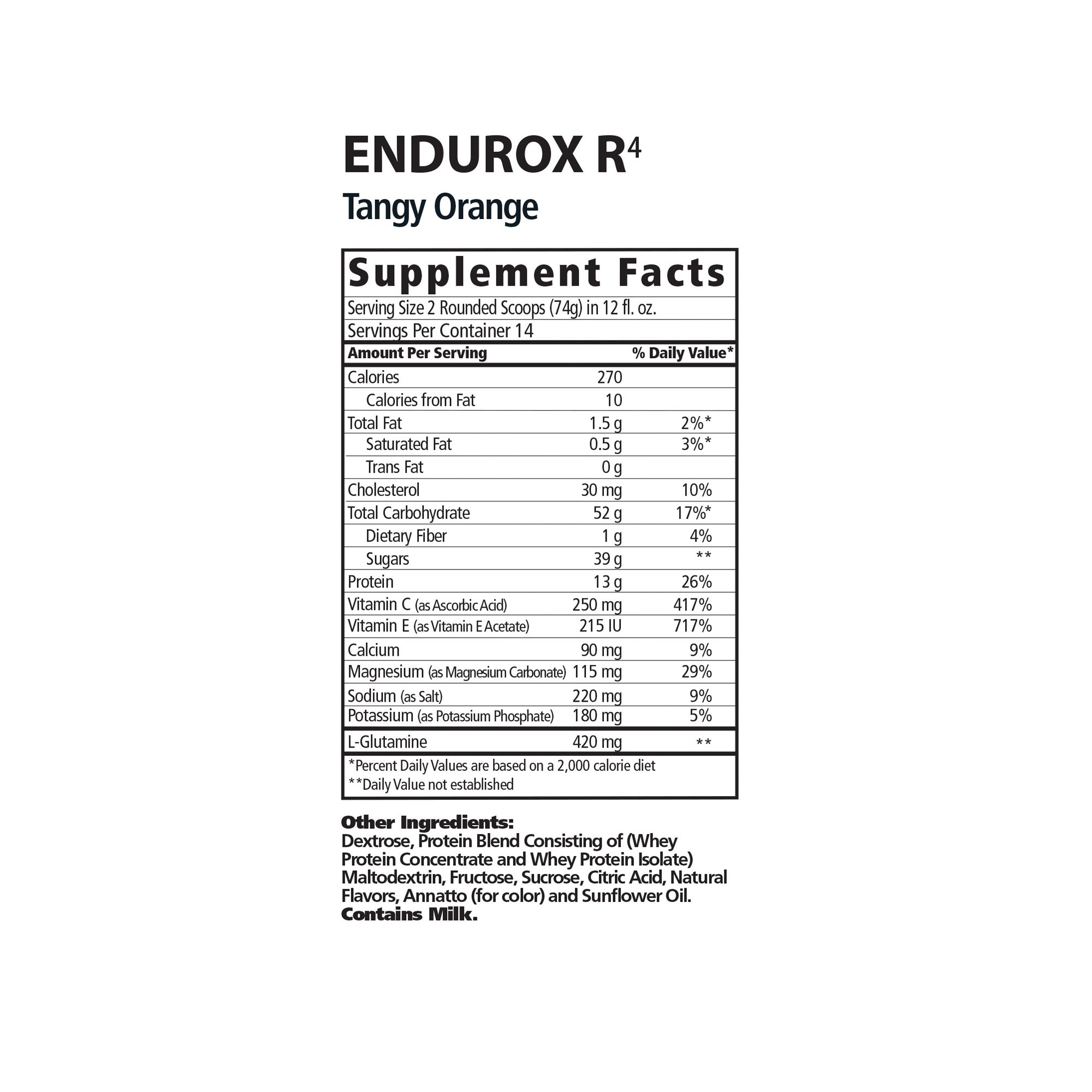 PacificHealth Endurox R4, All Natural Post Workout Recovery Drink Mix with Protein, Carbs, Electrolytes and Antioxidants for Superior Muscle Recovery, Net Wt. 4.56 lb, 28 Serving (Tangy Orange)