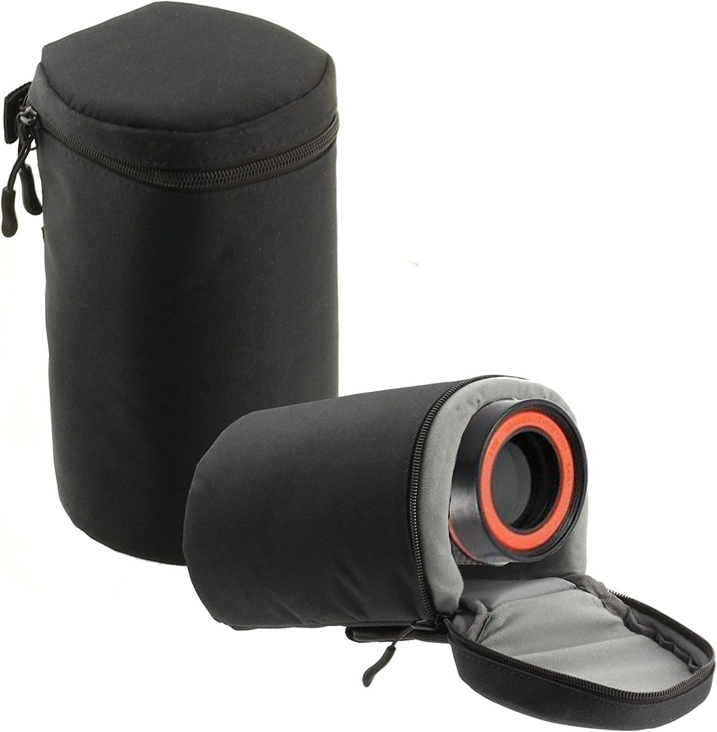 Navitech Black Water Resistant Camera Lens Protective Case Pouch Compatible with The Canon EF 80-200mm f//2.8L Canon EF 70-300mm f//4-5.6L is USM Canon EF 70-200mm f//4 USM