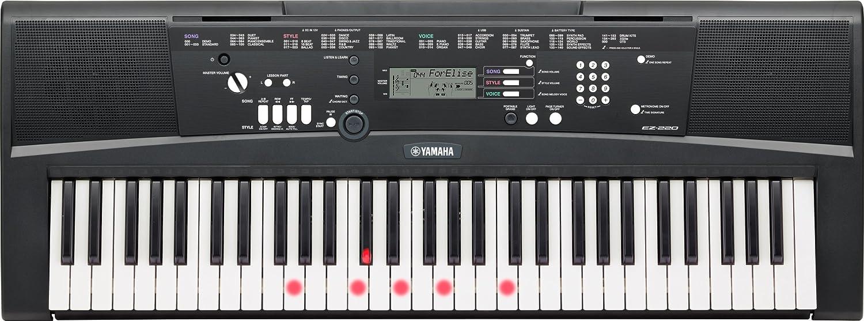 Yamaha EZ-220 - Teclado portátil (61 teclas, 392 voces), color negro Yamaha Musical Instruments SEZ220UK