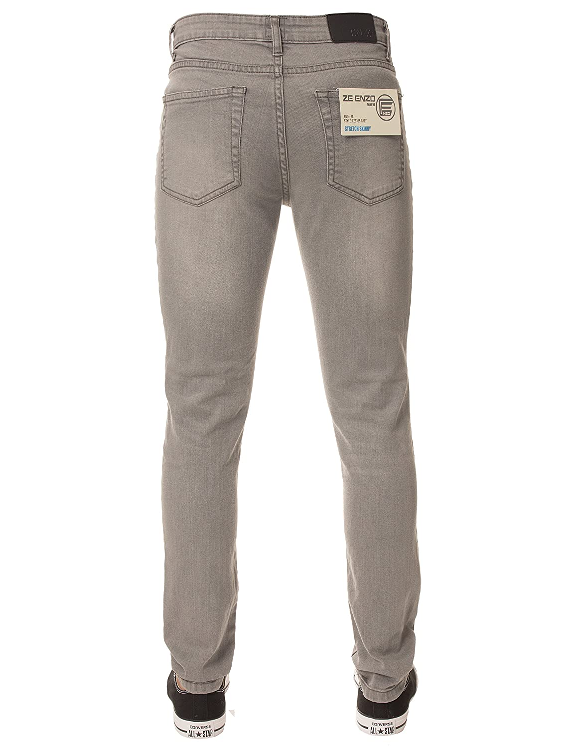 91876f805965 New ENZO Boys Designer Basic Chino Jeans Skinny Stretch Fit Ages 9 - 15   Amazon.co.uk  Clothing