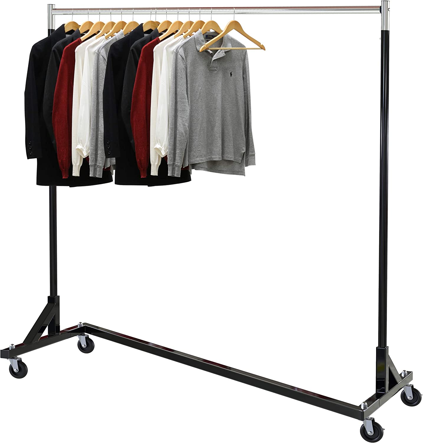 Simple Houseware Commercial Z Base Garment Rack, Black