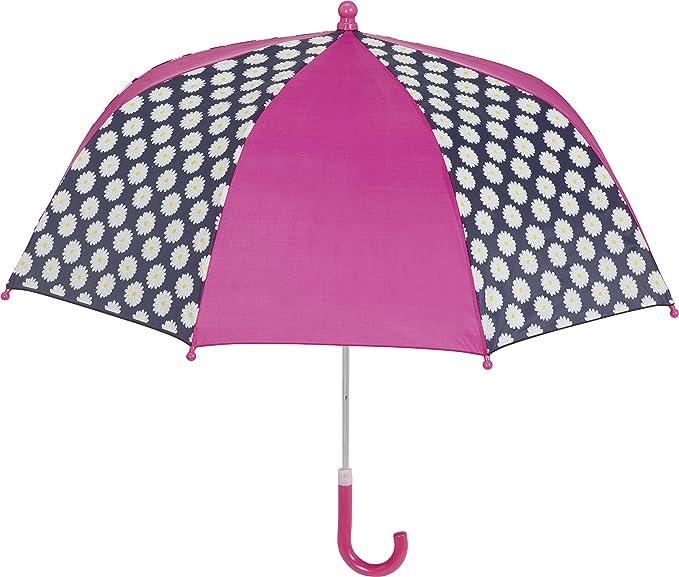 Playshoes Regenschirm Margeriten, Paraguas para Niñas, Multicolor (Marine/Pink 372), Talla única: Amazon.es: Ropa y accesorios