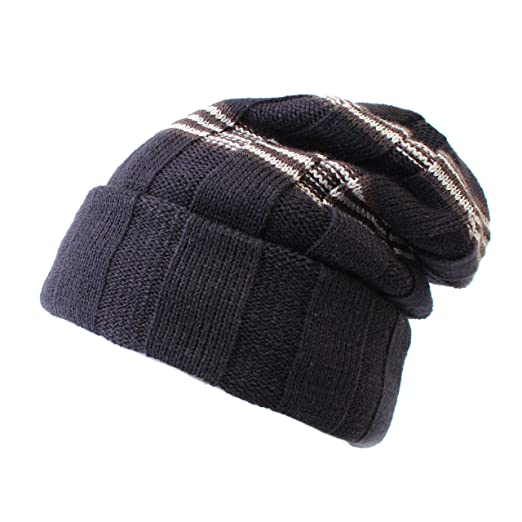 ee0db0008 Classic Boys Winter hat Cable Knit Thick Slouchy Snow ski Cap Boys Beanie