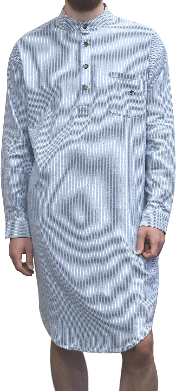 1930s Men's Fashion Guide- What Did Men Wear? Lee Valley Mens Genuine Irish Cotton Flannel Nightshirt $69.99 AT vintagedancer.com