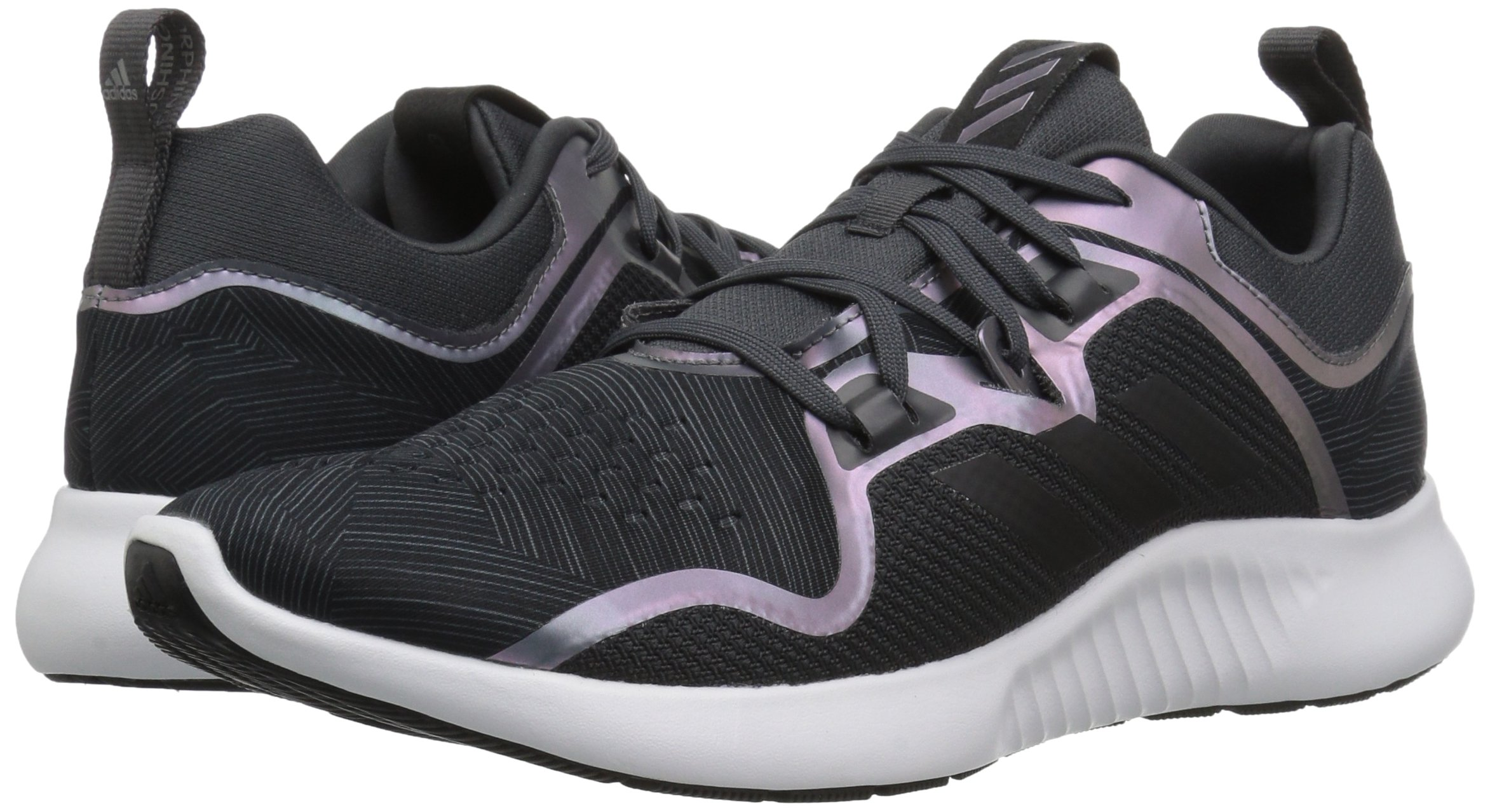 adidas Women's EdgeBounce Running Shoe Carbon/Black/Night Metallic 5.5 M US by adidas (Image #5)