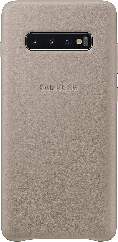 Samsung Leather Cover, funda oficial para Samsung Galaxy 10+, color gris