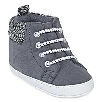 358581cb377c Image Unavailable. Image not available for. Color  Carter s Baby Boys  Infant High Top Soft Crib Shoes Gray ...