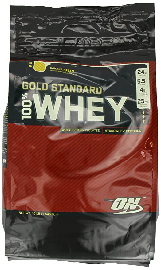 Optimum nutrition 100% whey gold standard, plátano - 4545 g