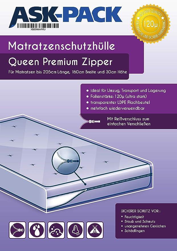 ASK Pack Bolsa de Colchón Premium Queen - con Cierre Cremallera ...