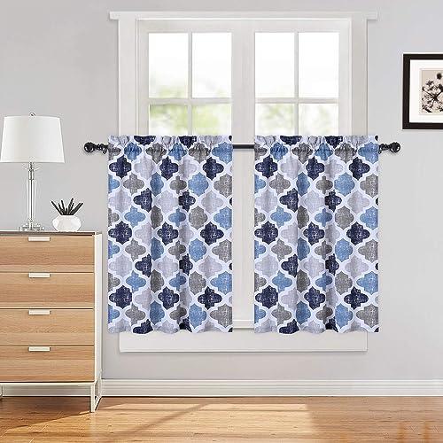 Quatrefoil Printed Tier Curtain