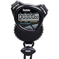 Robic Cronómetro con Temporizador de Cuenta atrás, Color Negro