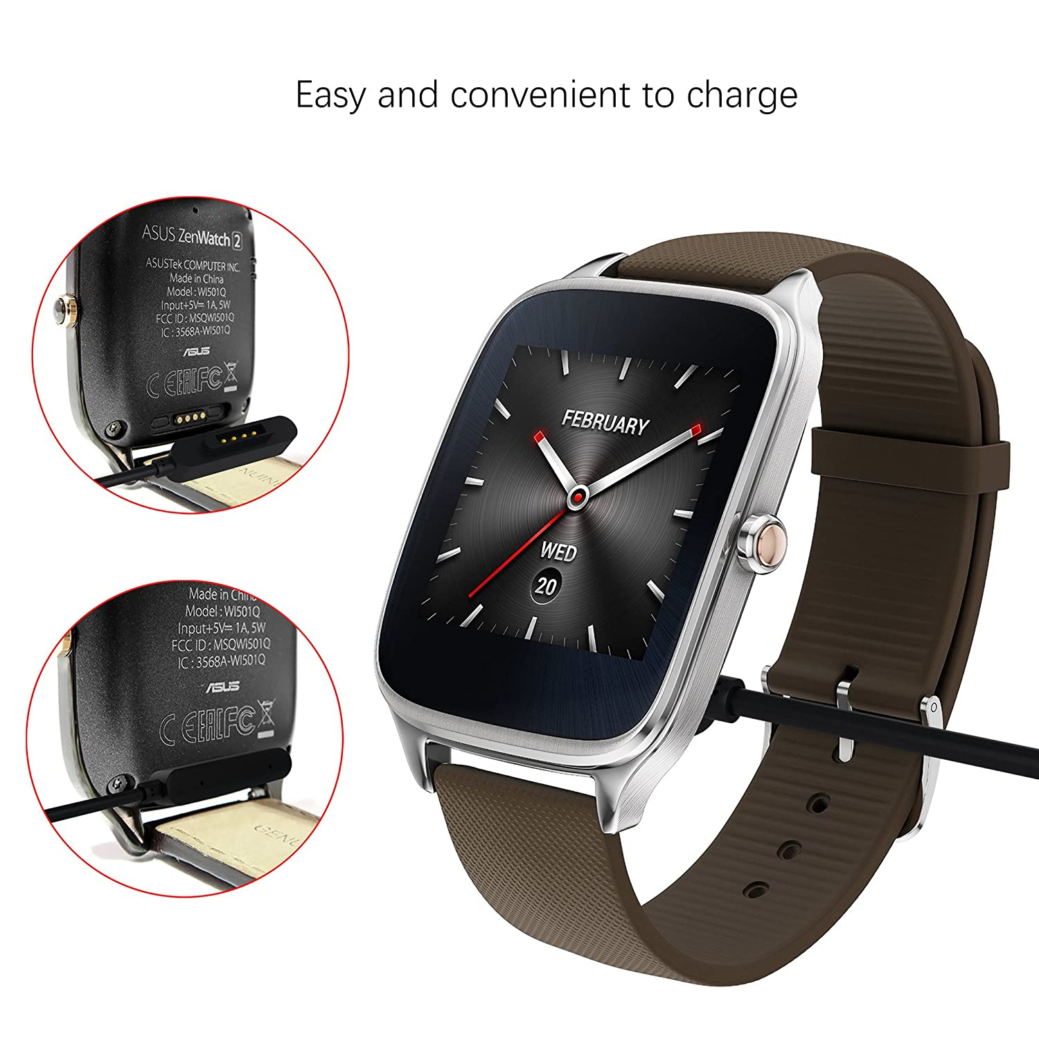 GOOQ Portable Charging USB Charger Cable for ASUS ZenWatch 2 ...