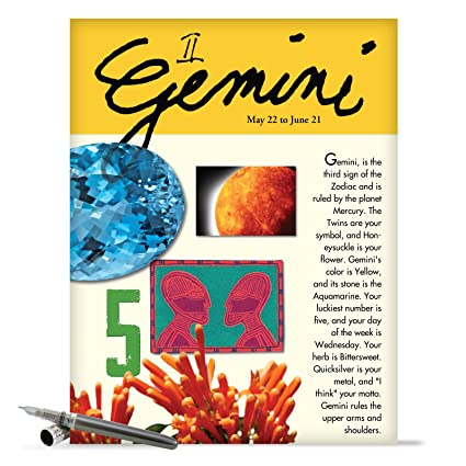 Amazon J9444 Gemini Astrological Sign Birthday Card Famous