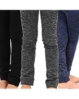 TeeHee Kids Girls Fleece Inner Brushed Leggings 3 Pack