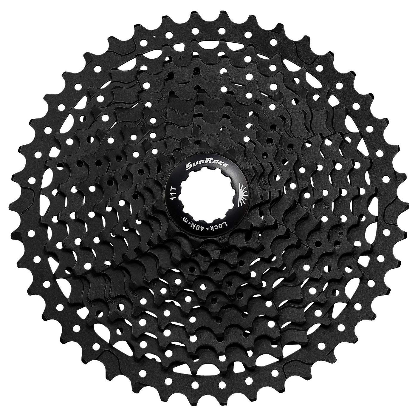 SunRace MS3 10 Speed Mountain Bike Bicycle Cassette Black 11-46T by SunRace