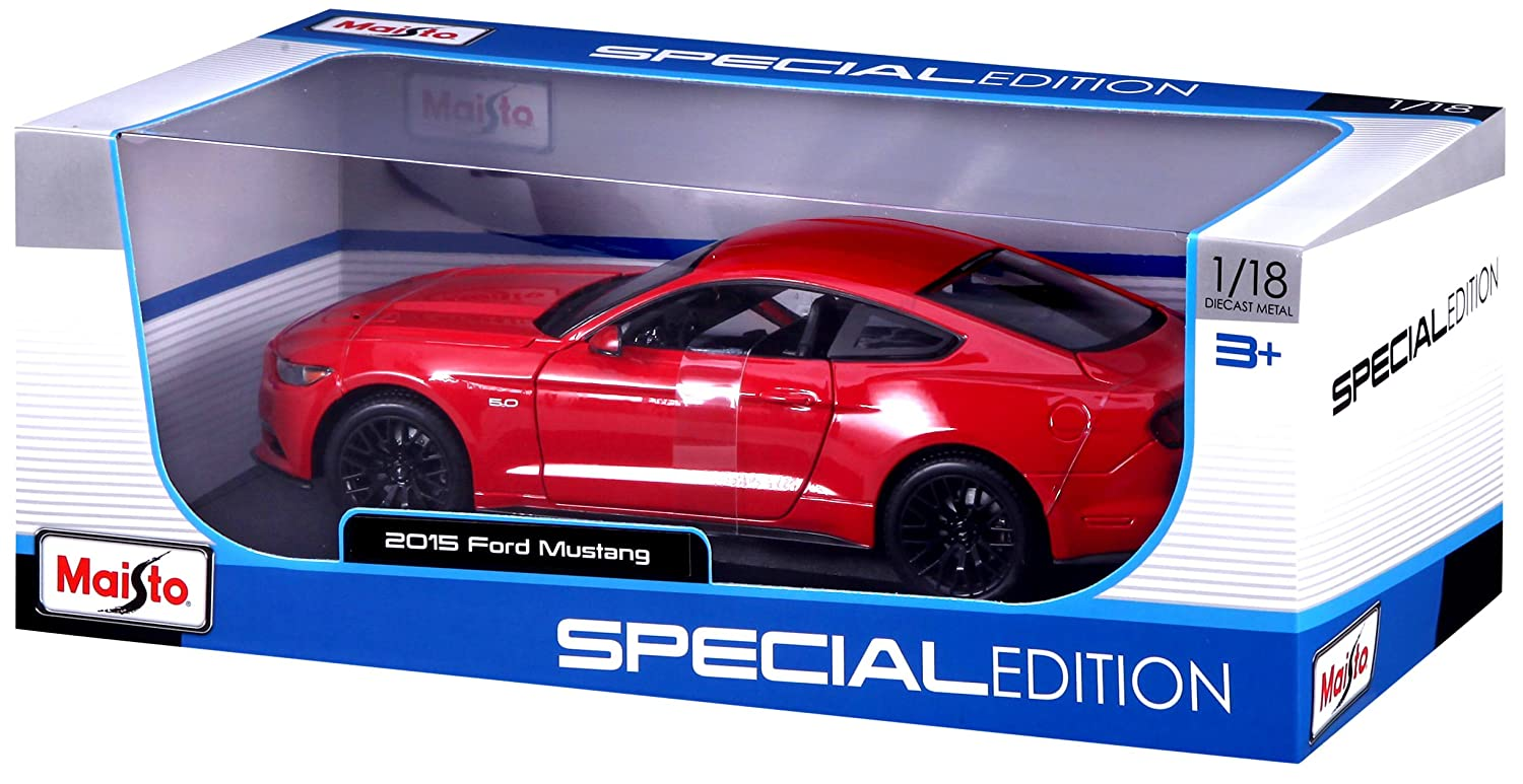 Amazon Maisto 118 Scale 2015 Ford Mustang Diecast Vehicle Colors May Vary Toys Games
