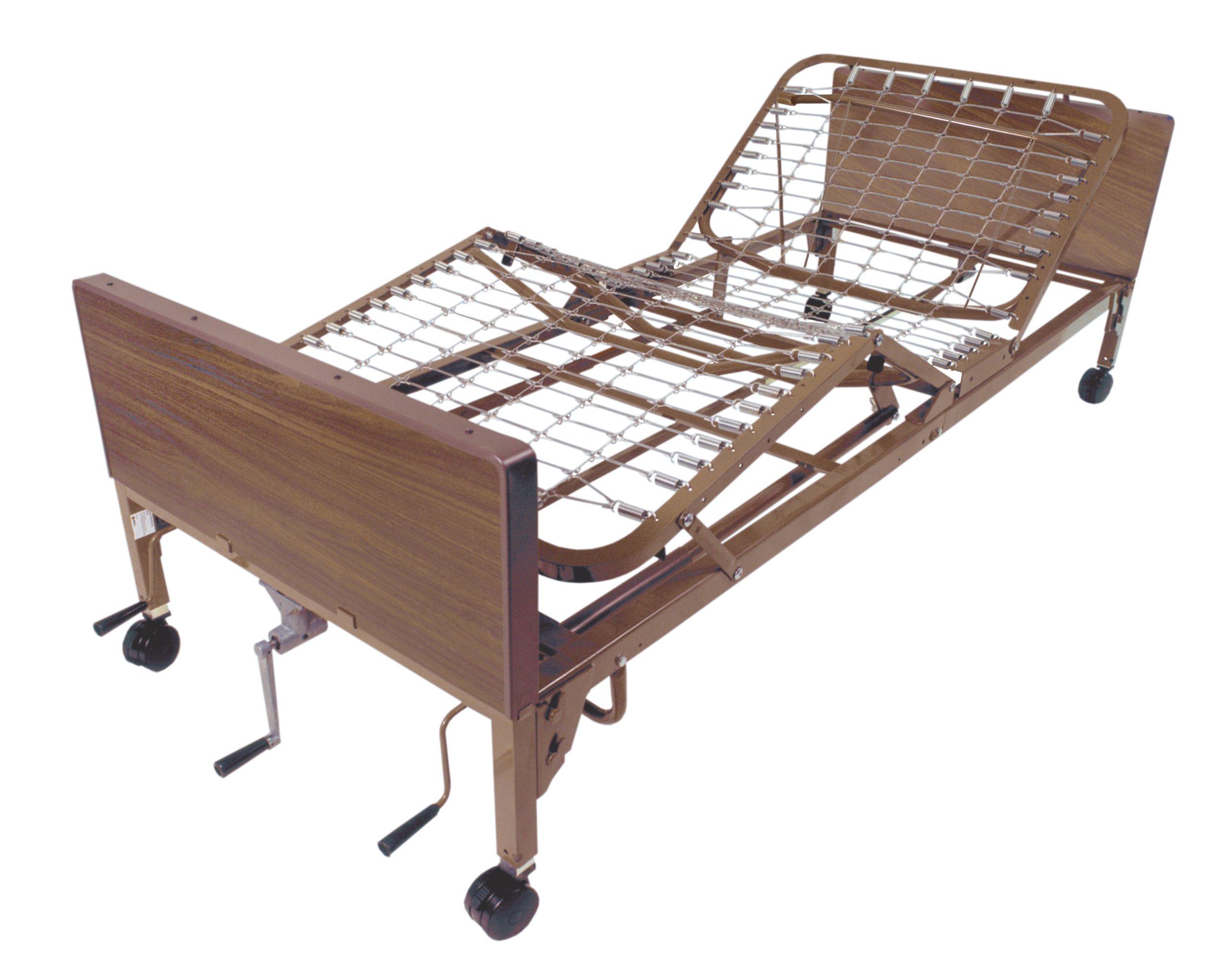 Drive Medical Manual Hospital Bed, Brown, 36''