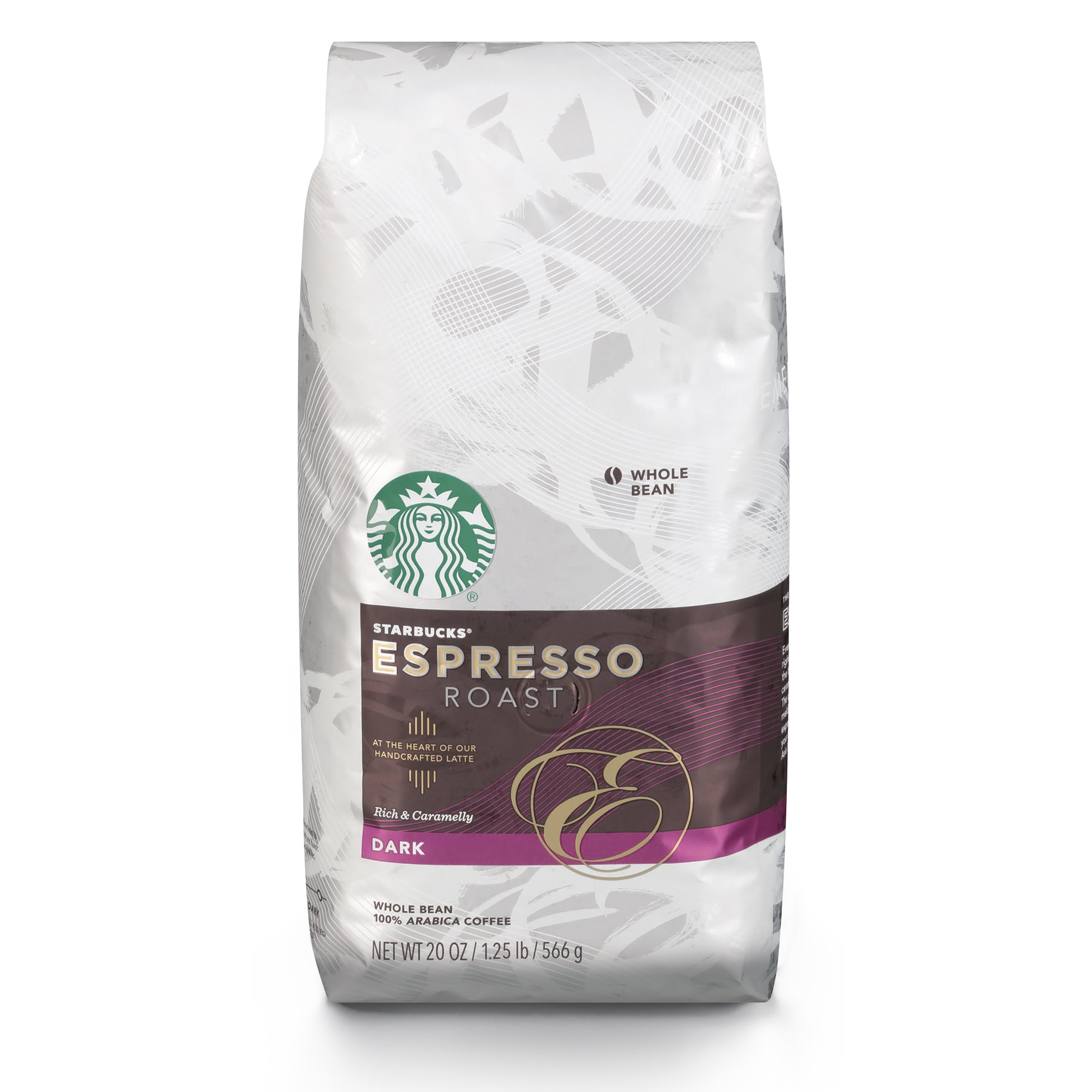 Starbucks Espresso Dark Roast Whole Bean Coffee, 20-Ounce Bag