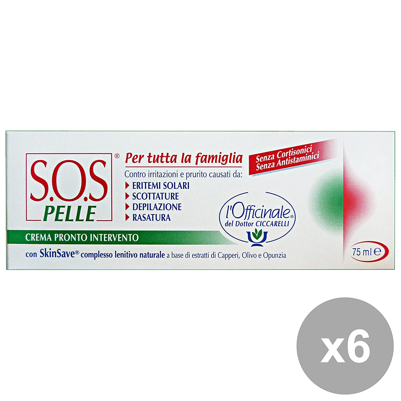 Set 6 SOS Pelle Crema Pronto Intervento 75 Ml. Desinfektionsmitteln