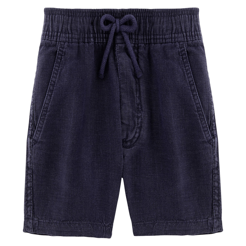 Vilebrequin Solid Linen Bermuda Shorts - Boys - Navy - 8