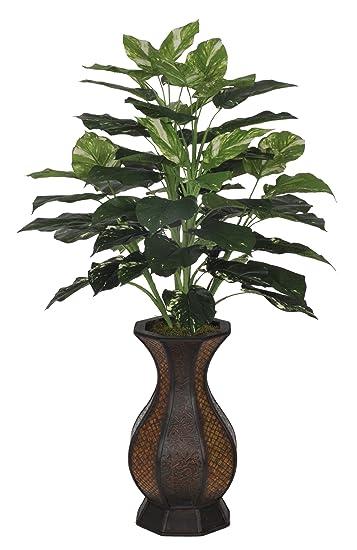 Amazon.com: House Of Silk Flowers Artificial Pothos Floor Plant In ...